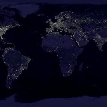 A world map of electricity use.